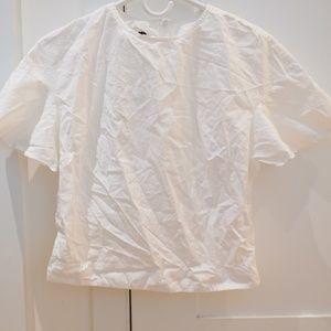 APIECE APART NEW YORK white cotton cropped top 2